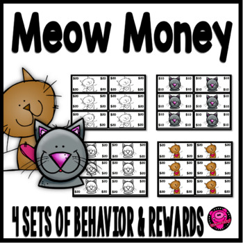 CATS THEME CLASSROOM REWARDS and BEHAVIOR in BROWN CAT THEME