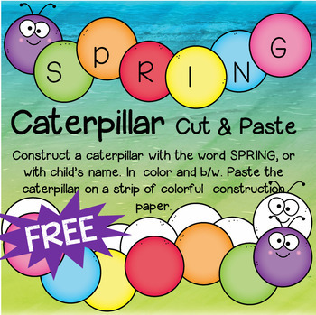 Caterpillar Cut and Paste FREE