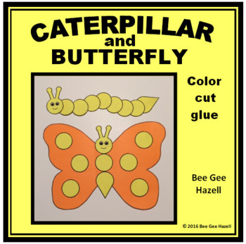 CATERPILLAR and BUTTERFLY Spring Craft