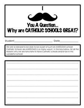 CATHOLIC SCHOOLS' WEEK: I MUSTACHE ASK YOU, why are we so great?