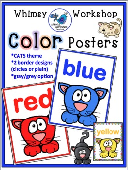 CATS Color Posters Room Decor (Whimsy Workshop Teaching)