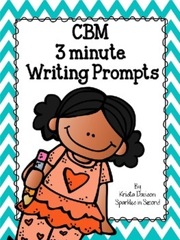 CBM 3 Minute Writing Prompts With Editable Template