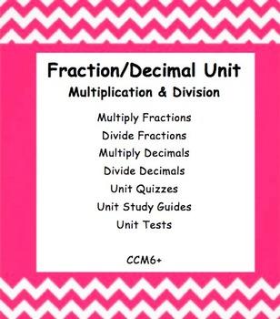 CC 6th Grade Math Unit BUNDLE: Multiply and Divide Fractio