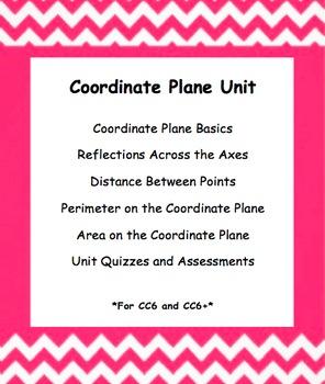 CC 6th Grade Math Unit BUNDLE: Coordinate Plane (Reflect,