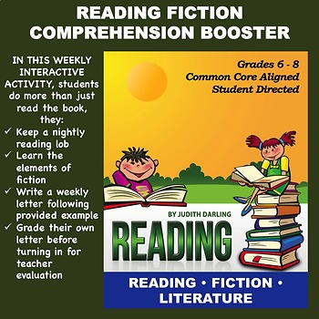 Reading FICTION Comprehension Booster for Grades 5 - 8