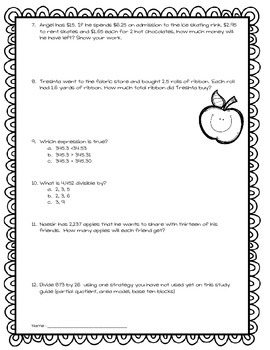 CC Division of Whole Numbers Review