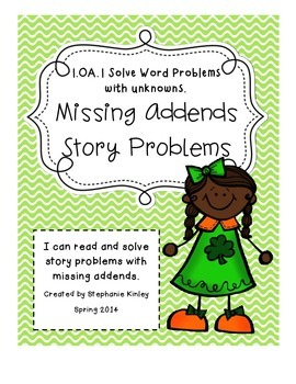CC - Math Word Problems - March Edition  {Missing Addends}