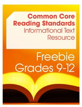 Common Core Reading: Informational Texts Resource Freebie