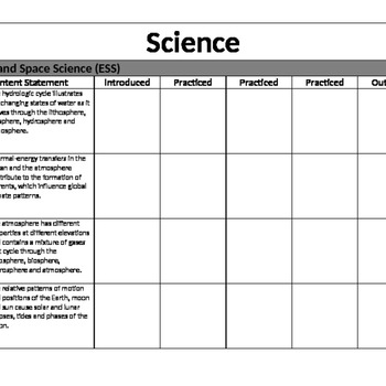 CC Science Grade Tracker for Binder 7th
