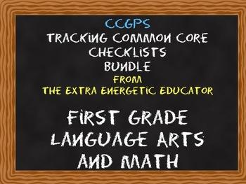 CCGPS Bundle: Tracking Common Core 1st English/Language Ar
