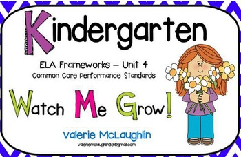 CCGPS Kindergarten Unit 4 - Watch Me Grow! ~ Smartboard
