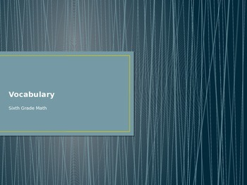 CCGPS Unit 1 Vocabulary Review