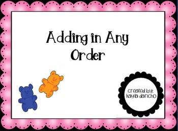 CCSS 1.OA.3 The Commutative Property of Addition