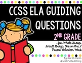 CCSS 2nd Grade ELA Guiding Question Cards