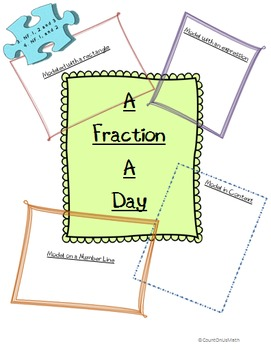 CCSS 3.NF.1, 2, and 3 & 4.NF.1 and 2  A Fraction a Day