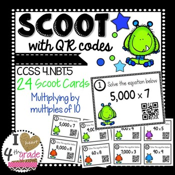 Halloween Multiplication Scoot with QR Codes