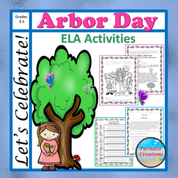 "CCSS ""ARBOR DAY"" BUNDLE TEXT-BASED WRITING ASSIGNMENTS"