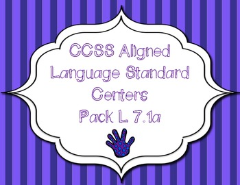 CCSS Aligned Language Standard Centers