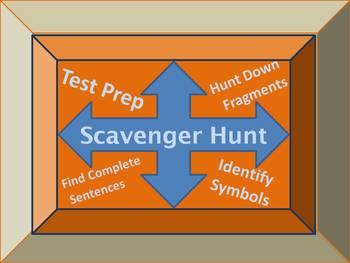 CCSS Aligned Scavenger Hunt:  Complete Sentences, Sentence