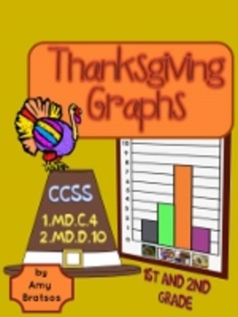 Thanksgiving Graph Activities for 1st & 2nd Grade - CCSS 1