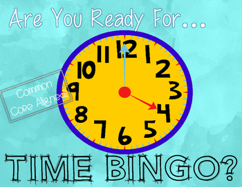 CCSS-Aligned Time Bingo Math Center