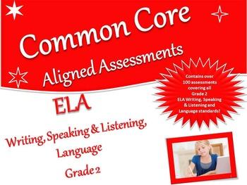 CCSS Assessment Bank ELA -Writing, Speaking & Listening, L