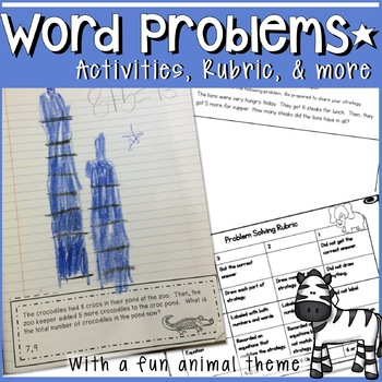 CCSS CGI STYLE FIRST GRADE PROBLEM SOLVING 4 WEEKS OF COMP