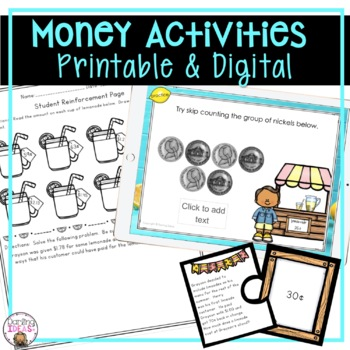 CCSS COUNTING AND SOLVING WORD PROBLEMS WITH MONEY 2 WEEK