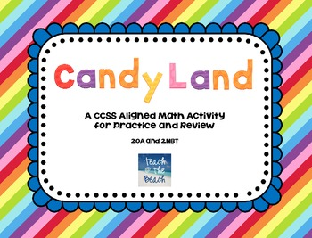 CCSS Candy Land Cards for Math