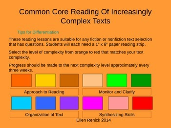 CCSS EDI Common Core Close Reading Increasingly Complex Te