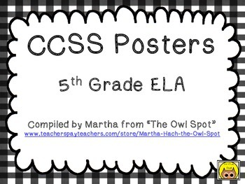 CCSS ELA Standards Posters - 5th Grade