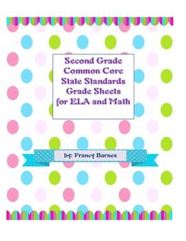 CCSS ELA and Math Grade Sheets for Second Grade