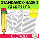 Editable Standards Based Grade Book - Grade 2