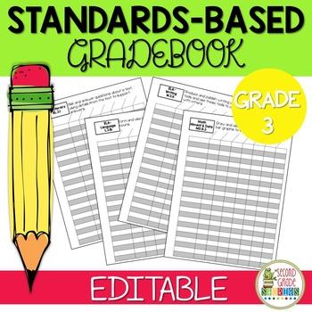 Editable Standards Based Gradebook - Grade 3