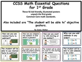 "CCSS Math Essential Questions and ""The student will be abl"