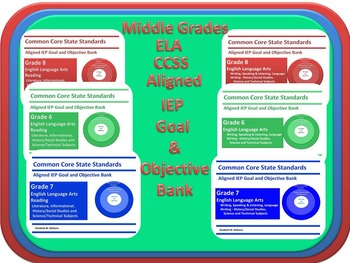 Grades 6-8 CCSS IEP Goal and Objective Bank for SLPs and L