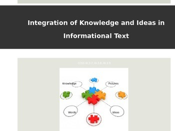 CCSS -Integration of Knowledge and Ideas in Informational
