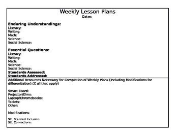 CCSS Lesson Plan Template