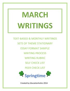 "CCSS ""MARCH"" BUNDLE TEXT-BASED WRITING ASSIGNMENTS"