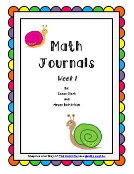 CCSS Math Journals