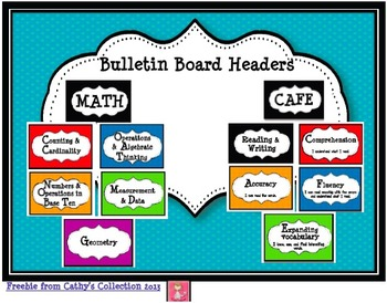 CCSS Math and Reading and Writing Bulletin Board Headers (