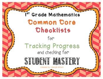 CCSS Mathematics First Grade Student Checklist - Tracking