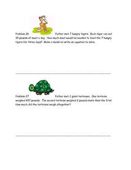 Math Problem Solving, Characters & Events from My Father's Dragon
