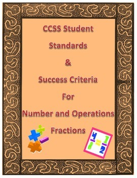 CCSS Number and Operations-Fractions 4th Grade