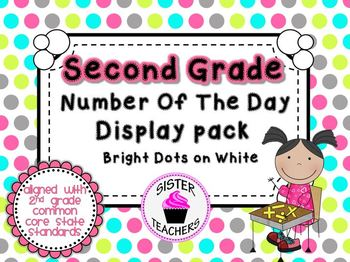 Bright Dots on White- Common Core Number of the Day Displa