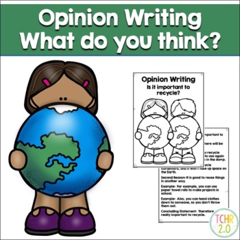 Opinion Writing Prompt Earth Day Recycle April