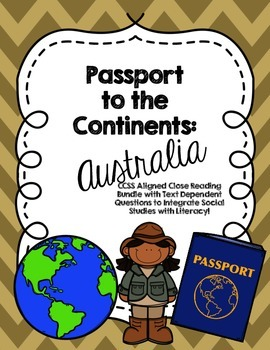 CCSS Passport to the Continents: Australia - 7 Text Close