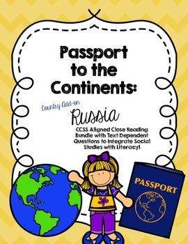 CCSS Passport to the Continents: Country Add on- Russia- C