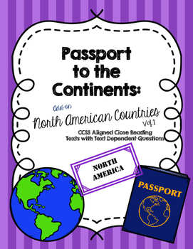 CCSS Passport to the Continents: North American Countries