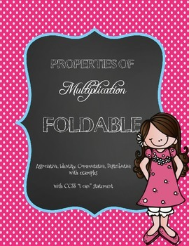 CCSS: Properties of Multiplication Flipbook Foldable for I